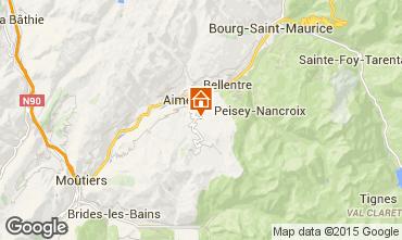 Map Les Arcs Self-catering property 100022