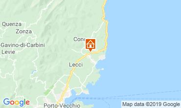 Map Ste Lucie de Porto Vecchio Apartment 101406