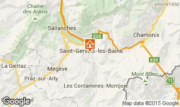 Map Saint Gervais Mont-Blanc Apartment 15389