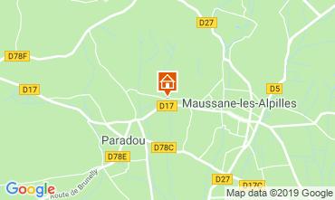 Map Maussane les Alpilles Self-catering property 118350
