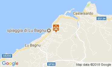 Map Castelsardo Apartment 83489
