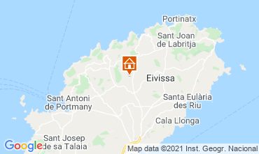 Map Ibiza Self-catering property 64142