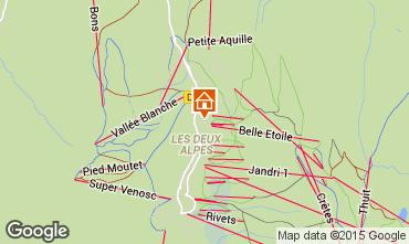 Map Les 2 Alpes Apartment 40123