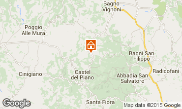 Map Montalcino Apartment 74222