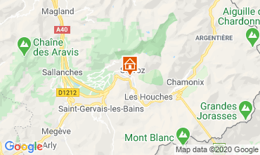 Map Chamonix Mont-Blanc Studio apartment 90652