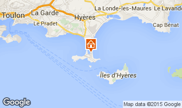 Map Hyères Apartment 69390