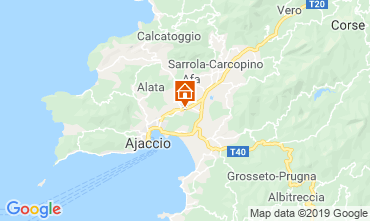 Map Ajaccio Studio apartment 64723