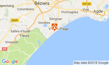 Map Valras-Plage Studio apartment 113797