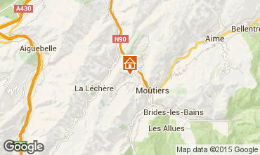 Map Valmorel Self-catering property 3490