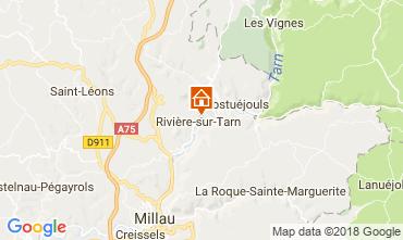Map Millau Studio apartment 74153