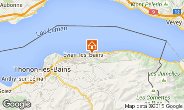 Map Evian les Bains Self-catering property 14092
