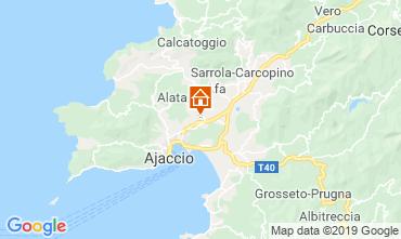 Map Ajaccio Apartment 108065
