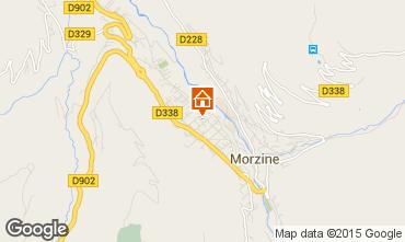 Map Morzine Apartment 28154