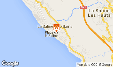 Map La Saline les Bains Bungalow 50449