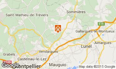 Map Montpellier Villa 80910