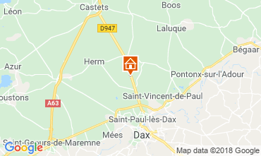 Map Saint Paul les Dax Self-catering property 116567
