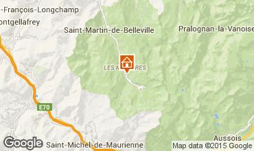 Map Les Menuires Studio apartment 1648