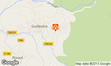 Map Guillestre Apartment 75933