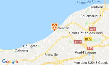 Map Deauville Apartment 116596