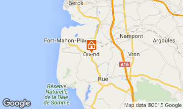 Map Quend Plage Self-catering property 85453
