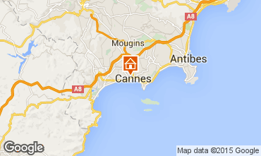 Map Cannes Studio apartment 57974