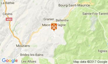 Map La Plagne Chalet 31596