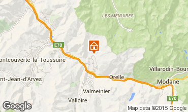 Map Saint Jean de Maurienne Self-catering property 68664