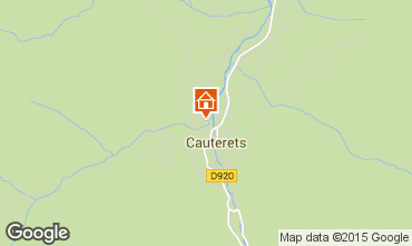 Map Cauterets Apartment 4059