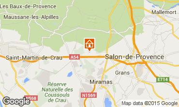 Map Salon de Provence Self-catering property 77630