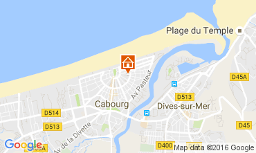 Map Cabourg Apartment 106216