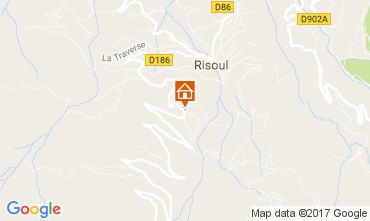 Map Risoul 1850 Self-catering property 110319