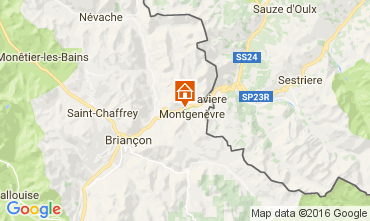 Map Montgenevre Studio apartment 98347