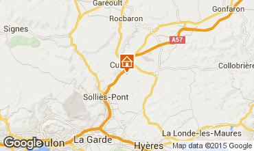 Map Hyères Villa 45657