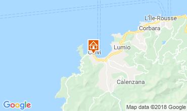 Map Calvi Apartment 67469