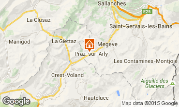Map Praz sur Arly Apartment 73196