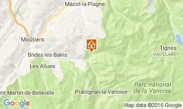 Map Champagny en Vanoise Studio apartment 106489