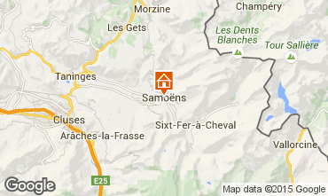 Map Samoëns Studio apartment 80530