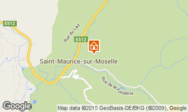Map Gérardmer Chalet 4643