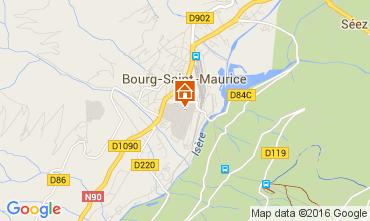 Map Bourg saint Maurice Apartment 106036