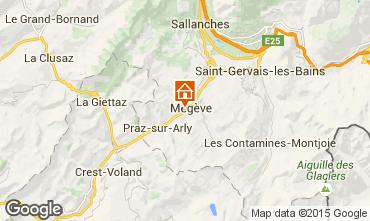 Map Megève Apartment 21360