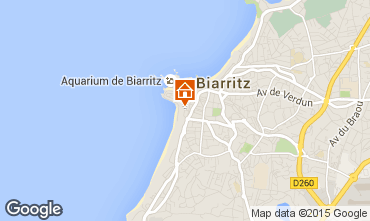 Map Biarritz Apartment 15275