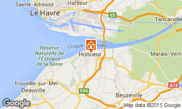 Map Honfleur Studio apartment 77332