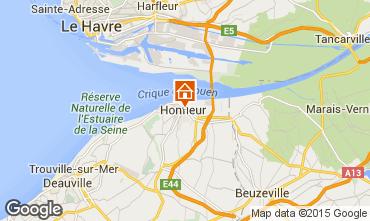 Map Honfleur Studio apartment 77332