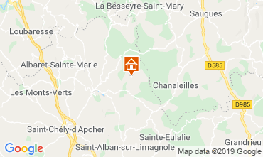 Map Le Malzieu-Forain Self-catering property 11874
