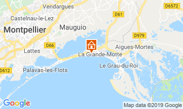 Map La Grande Motte Apartment 61785