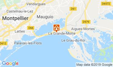Map La Grande Motte Apartment 61785