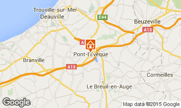 Map Deauville Self-catering property 77536