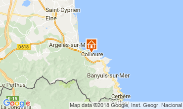 Map Collioure B&B 115307
