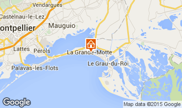 Map La Grande Motte Apartment 73714