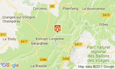 Map Gérardmer Self-catering property 90797
